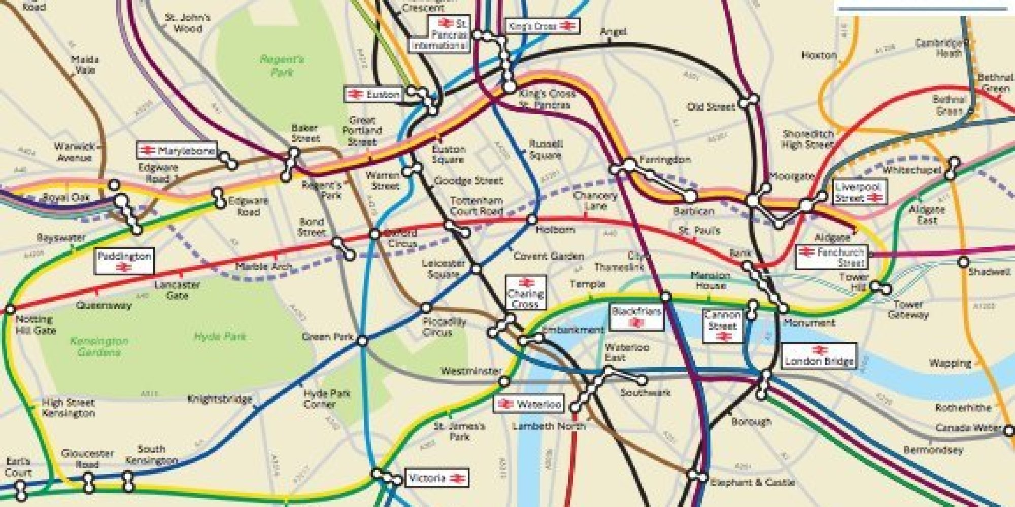 London Underground: Geographically Accurate Map Obtained By Freedom Of ...
