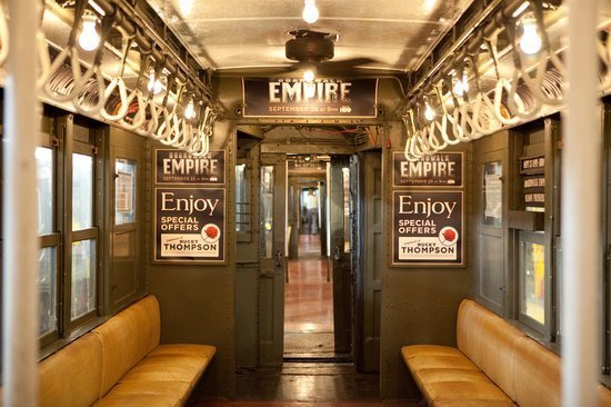 boardwalk empire brings back 1920s vintage subway train to new york photo huffpost. Black Bedroom Furniture Sets. Home Design Ideas