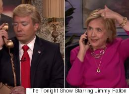 Jimmy Fallon Hilariously Interviews Hillary... While Pretending To Be Donald Trump