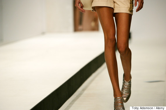 models legs catwalk