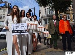 Des mannequins protestent à Londres pour les droits des animaux (PHOTOS)