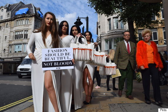 Models Carry Handbags 'Dripping With Blood' At PETA ...