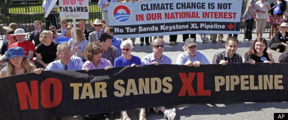 OIL SANDS PROTESTS STELMACH
