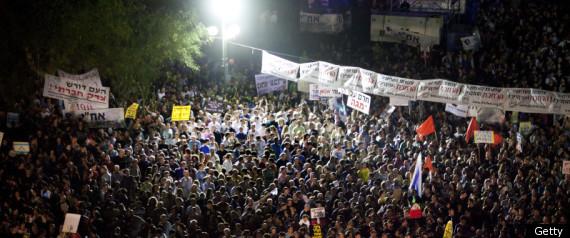 Η μεγαλύτερη διαδήλωση στο Ισραήλ...