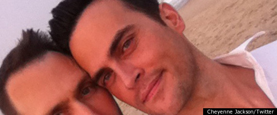Cheyenne Jackson Marries Partner