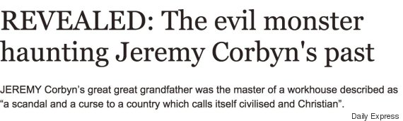 sunday express jeremy corbyn past