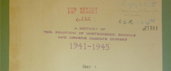 BLETCHLEY PARK TOP SECRET DOCUMENT