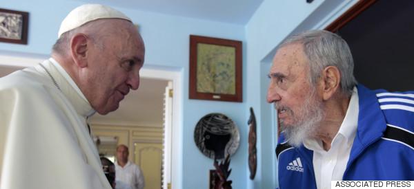 El encuentro del papa Francisco con Fidel Castro