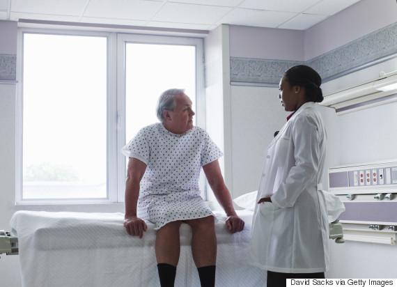 male hospital patient