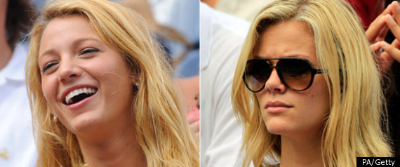 BLAKE LIVELY AND BROOKLYN DECKER AT THE US OPEN