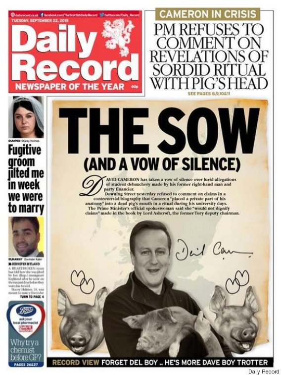 daily record david cameron big gate