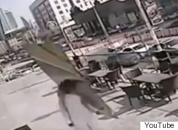 Man Gets Pummeled By Falling Windowpane, Recovers Like A Boss