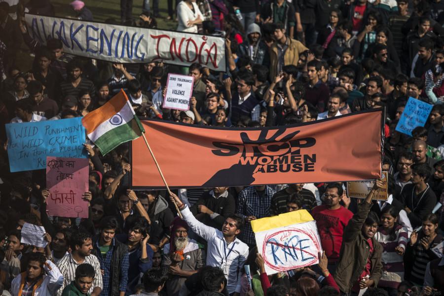 protesto índia