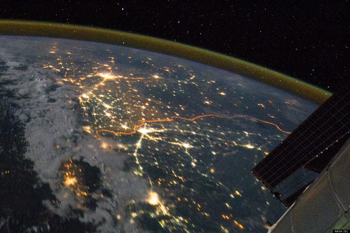 The India-Pakistan Border From The International Space Station: A ...