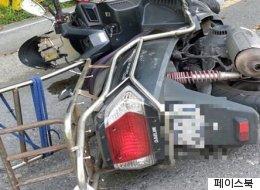 사고 당한 오토바이 택배를 대신 배달한 경찰