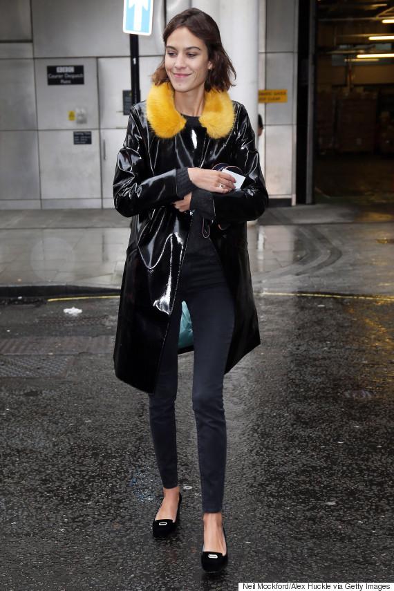 London Fashion Week Celebrity Style Alexa Chung Harry