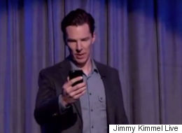 Benedict Cumberbatch Had An Epic Reaction To A Mean Tweet About Himself On 'Jimmy Kimmel'