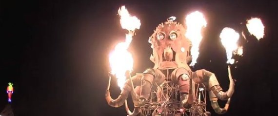STEAMPUNK OCTOPUS BURNING MAN 2011