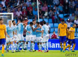 El Celta, líder junto al Madrid y al Villarreal tras golear al Barça