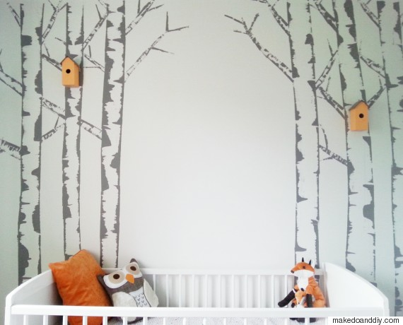 10 pinterest home improvement ideas that won 39 t cost the earth for Easy wall mural