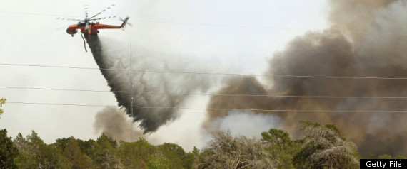 TEXAS WILDFIRES HELICOPTER