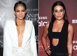 Lea Michele y J. Lo lucieron escotes muy sensuales esta semana