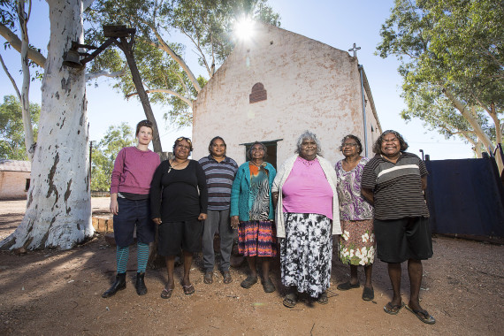 artists at hermannsburg mission church