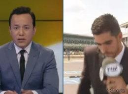 Atropellan a reportero en vivo
