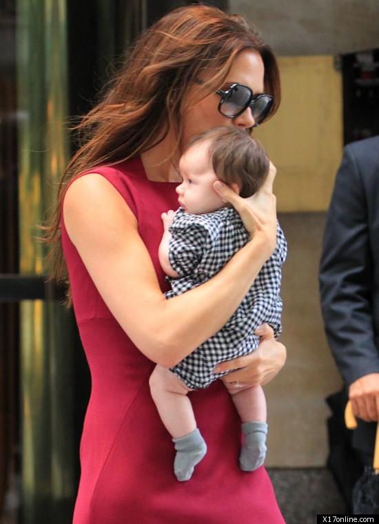 Victoria Beckham Takes Baby Harper To Fashion Week Photo