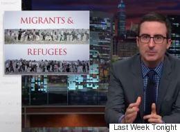 John Oliver Attacks 'Alleged Swine Fellatio Enthusiast' David Cameron & Fox News Over Refugees