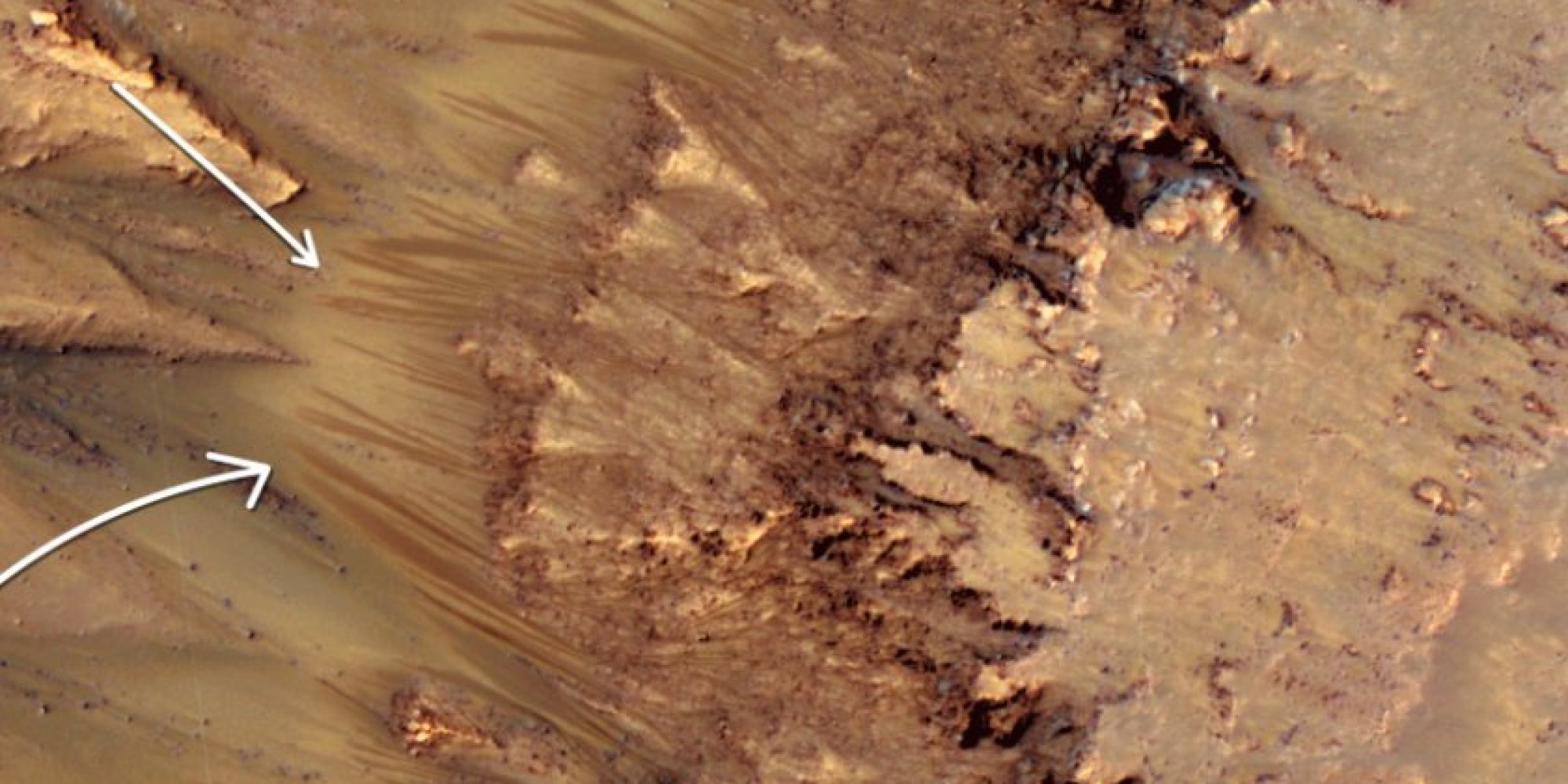 presence of water on mars A mars orbiter has detected a wide lake of liquid water hidden below the planet's  southern ice sheets there have been much-debated hints of.
