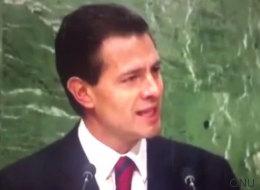 Nueva pifia de Peña Nieto, ahora en la ONU