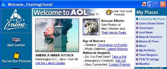 AOL WELCOME SCREEN 91101