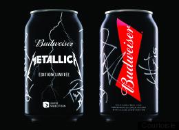 Une bière commémorative signée Budweiser et Metallica
