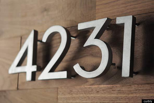 House number diy make your own modern address numbers for Big modern house numbers