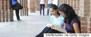 INDIA GIRLS STUDYING