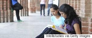 INDIA GIRLS STUDYING