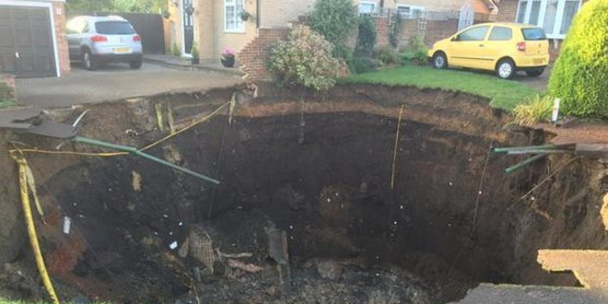 65ft Wide Sinkhole Opens In St Albans | HuffPost UK