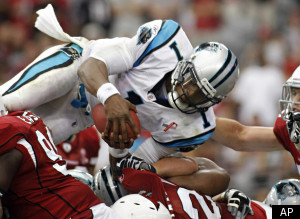 Cam Newton Panthers Cardinals