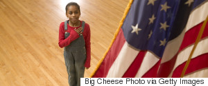 CHILDREN AMERICAN FLAG