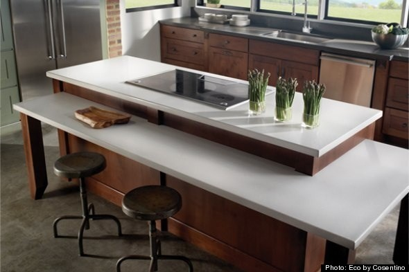 five green kitchen countertops | huffpost