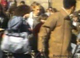 Krasses Video: Wie hunderte Flüchtlinge über die deutsche Grenze strömen