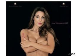 La Tatangelo nuda contro il tumore al seno. Ma la campagna non piace