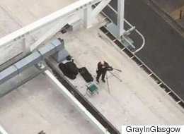 Police Snipers Pictured On Rooftops During Manchester Anti-Austerity March