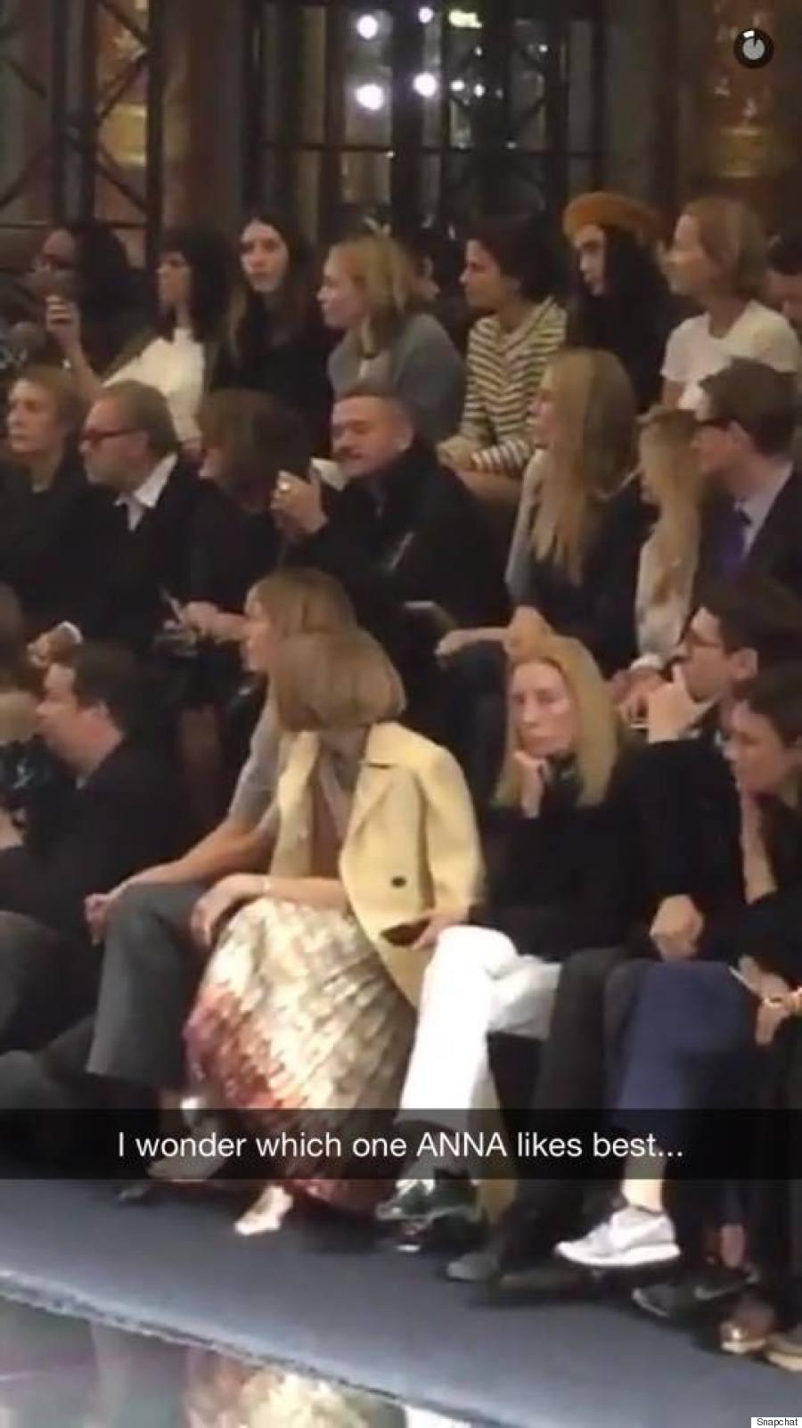 paris fashion week snapchat
