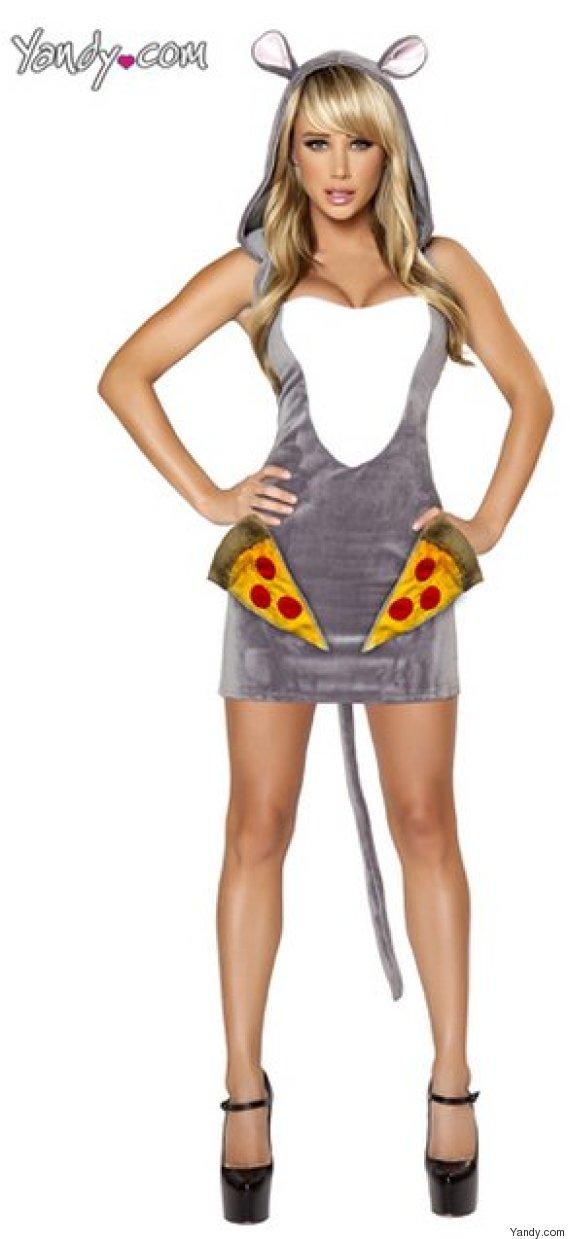 sexy pizza rat costume