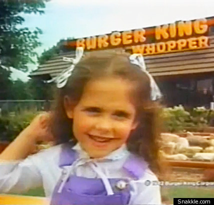 That's none other than Sarah Michelle Gellar at age four and appearing in a ...