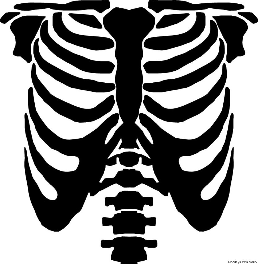 2. Print out some skeleton stencils off the internet (thereu0027s a nice ribcage stencil ...  sc 1 st  HuffPost & Recycle An Old Sweater Into A Skeleton Halloween Costume | HuffPost