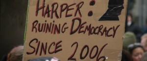 Stephen Harper Protest