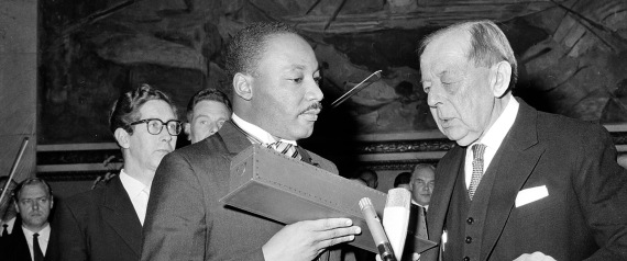NOBEL PEACE PRIZE TO MARTIN LUTHER KING JR